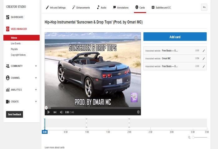 YouTube Card Example