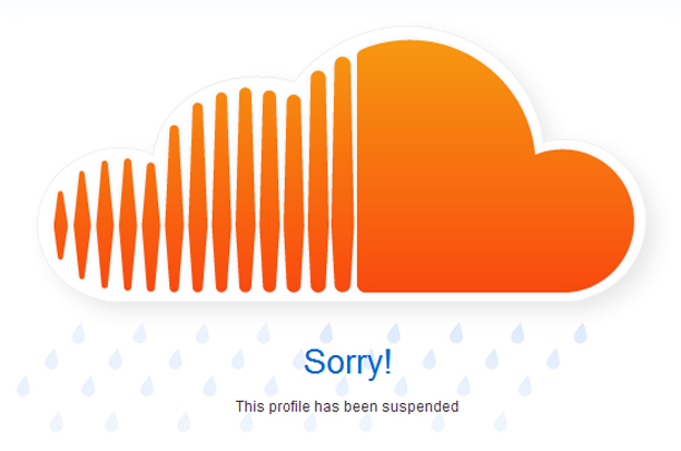 Suspended SoundCloud account