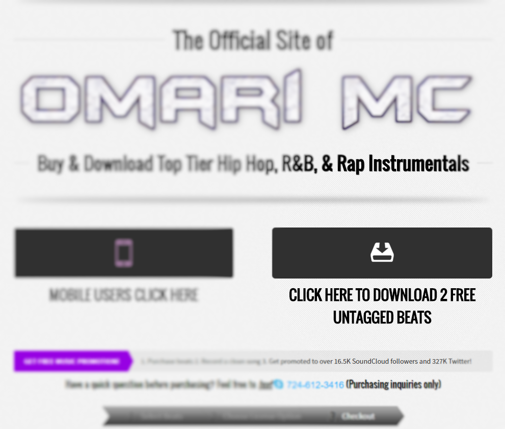 How To Make A Music Website (That Sells) — Omari MC