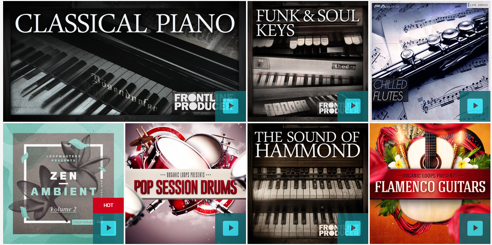 Live Music and Real Drum Kits & Sound Packs, Loops